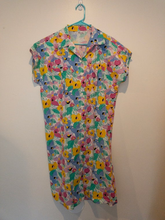 Vintage Shirt Dress Size Medium M Large L Women s  c7a849ad561
