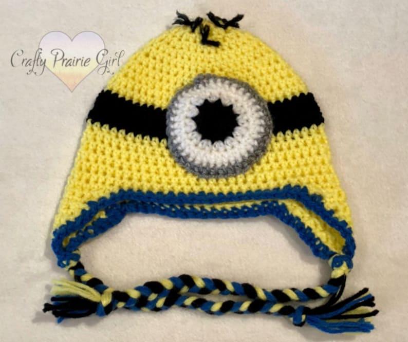 421851cd450 Yellow monster Inspired Crochet Hat   Movie Inspired Character