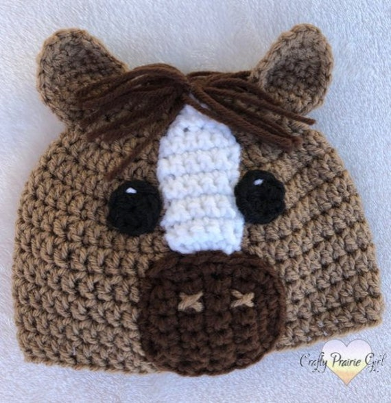 Crochet Horse Hat   Crochet Animal Hat   Horse Hat   Horse  e56f1063a05