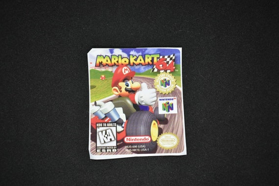 N64 Mario Kart 64 Replacement Label Decal Sticker Nintendo Etsy