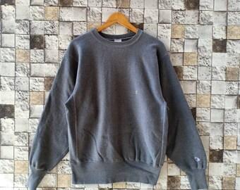 4a7d0eb501d Vintage 90s Champion Reverse Weave Sweatshirts Crewneck Men s Clothing Gray  Colour Small Logo Champion Large Size Sweater Champion Cotton