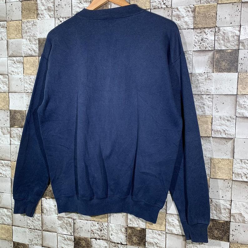 Vintage 90s Winnie The Pooh FDA Sweatshirt Cartoon Character Crewneck Dark Blue Colors Medium Size Pullover Jumper