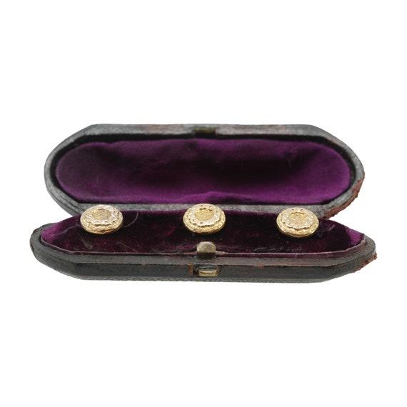 Victorian Antique Gold Shirt studs in original box