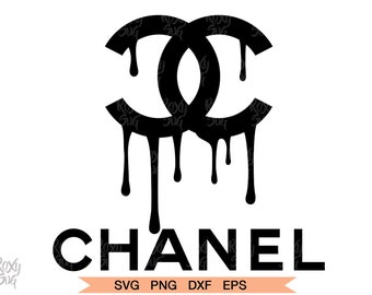 cc2a75491 Chanel Drip Logo, CHANEL dripping logo, CHANEL dripping Clipart, SVG Files  for Cricut.