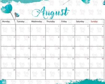 Calendar June 2019 June Printable Calendar 2019 June 2019 | Etsy