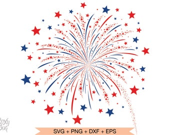 Fire Cracker Flag SVG DXF Graphic Art Cut file