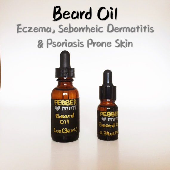 Beard Oil Ideal for Eczema, Seborrheic Dermatitis & Psoriasis Prone Skin | All Natural, Itchy Oily Dry Mustache, Keratosis, Gifts for Men