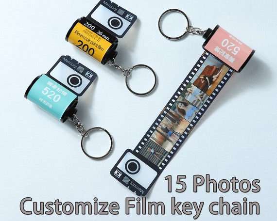Personalised Custom Photo Keyring Chain Birthday Christmas Present Gift Box