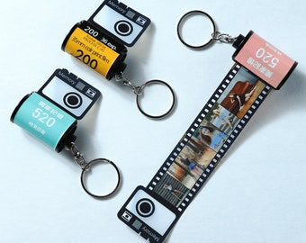 15-30 Photos keychain film roll , Customized gifts for my love , Personalized photos keychain , Christmas gifts , Birthday gift