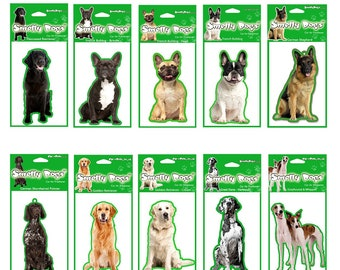 Dog Breed F - J. Car Air Fresheners x 4 pcs (individually packaged) Chose  your breed from the dropdown menu. 787273c72f8