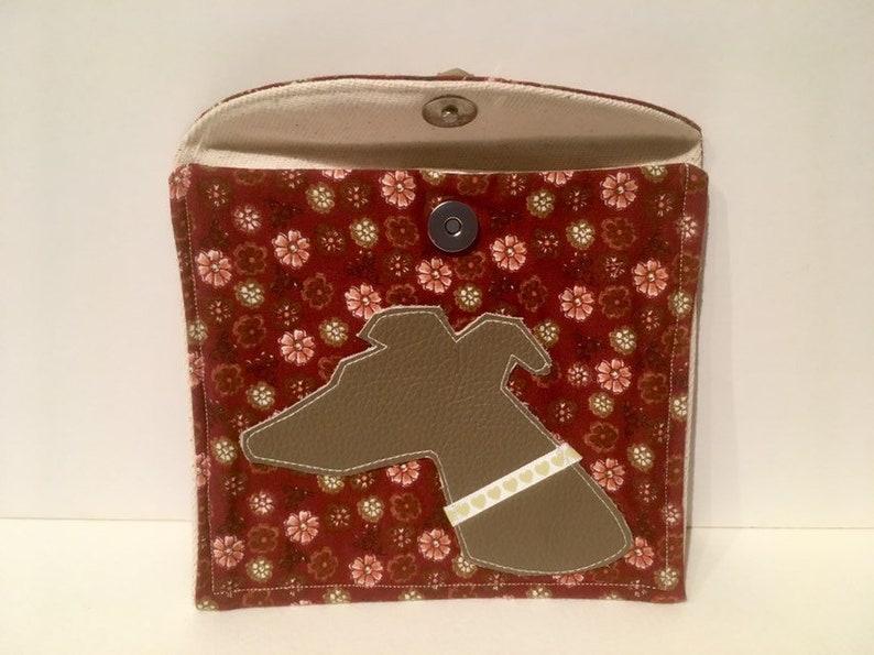 Greyhound Pouch Whippet Purse Handmade Whippet Pouch Whippet Gift . Greyhound Purse