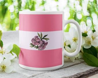 Sapphic Pride Flag Mug   Lesbian Girlfriend Gift for Her   WLW Gifts