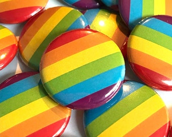 LGBTQ Rainbow Flag Badge   Gay Pride Pin Badge   Pride Gifts Under 5