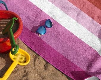 Lesbian Flag Beach Towel   Lesbian Pride Towel   Gay Pride