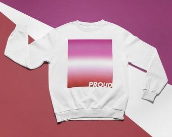 Lesbian Pride Sweatshirt   Lesbian Flag   LGBT Pride Clothing   Lesbian Gift   Gay Pride Sweater   Queer Pride   Pride Gifts