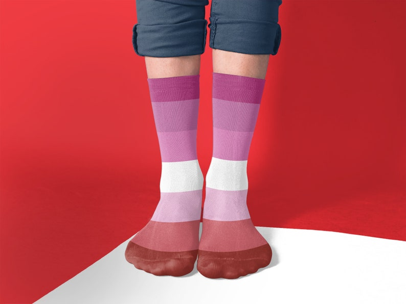 Lesbians in colourful socks