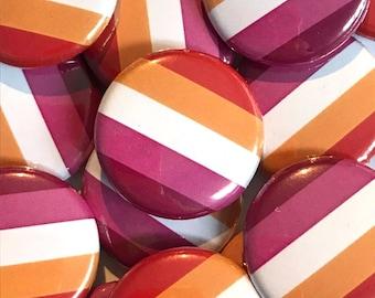 Lesbian Pride Pin Badge   Lesbian Flag Badge   Lesbian Community Flag   Pride Gifts Under 5