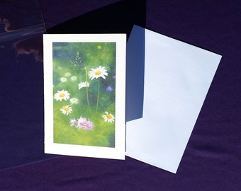 A Celebration of Flowers by Angela Durst - Fine Art Card - Greeting Card - Oil Painting - Print
