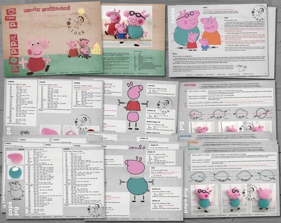 PEPPA PIG Amigurumi Pattern Peppa Pig Patrón Amigurumi | Etsy | 453x570
