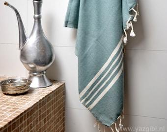 cfad10eec1c Soft hamam towel handloom sage green
