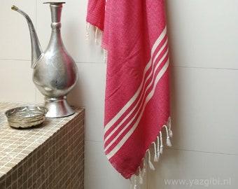 4aa775cda1f Soft hamam towel handloom fuchsia