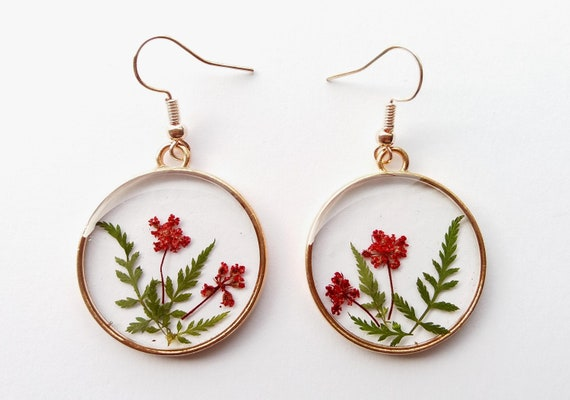 Image result for flower resin earrings