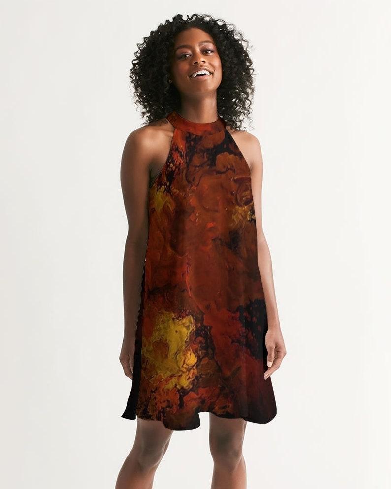 Women/'s Halter Dress Volanco