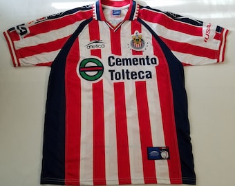 91067c2e1bb Chivas De Guadalajara Soccer Futbol Mexico Vintage Atletica Jersey Size  Large