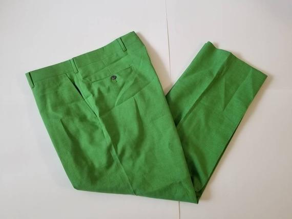 Brooks Brothers Vintage Lime Green Dress Pants Tro