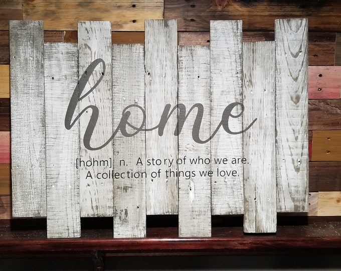 Home (Distressed wood)
