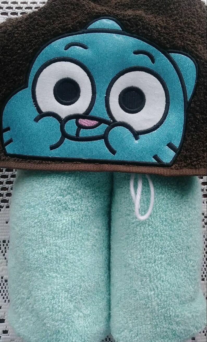 Kids Hooded Towel Hooded Towel Gumball Hooded Towel Embroidered Hooded Towel Child Sized Hooded Towel