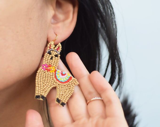Premium Llama Bead Earring Collection