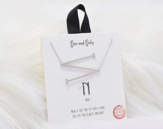 Sideways Initial N One and Only Necklaces Mono - Perfect gift for Mother's Day,Valentine's Day,Christmas,Hanukkah,Birthdays,Wife,Daughter