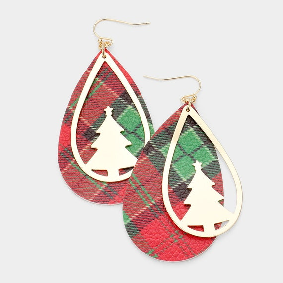 Curated Christmas Theme Earrings / Statement Jewelry / Winter Christmas / Dangling Earrings / Gifts for Her