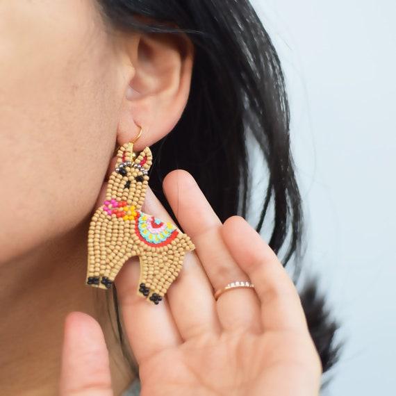 Premium Llama Bead Earring Collection