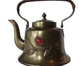 Brass Teapot, Brass Decor, Boho Teapot, Bohemian Decor, Brass Tea Kettle, Mini Teapot, Asian Teapot, Vintage Brass, Chinese Teapot