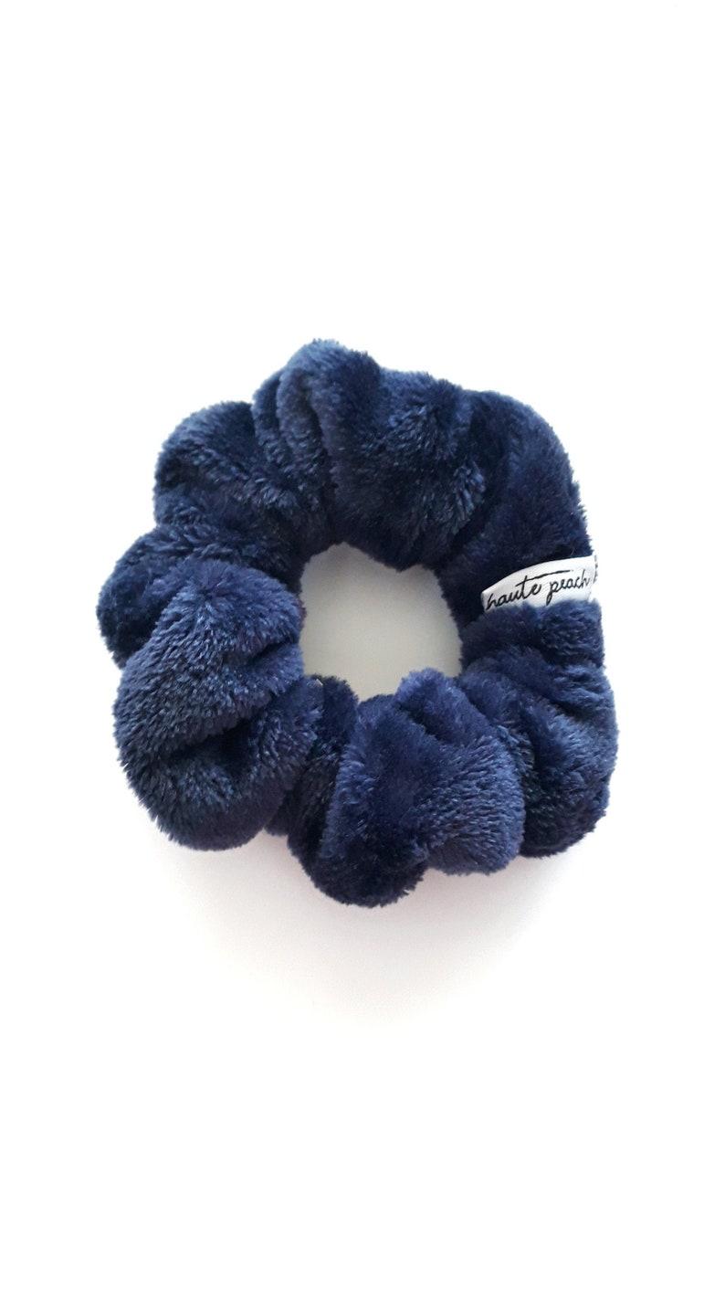 Navy Blue Teddy Scrunchy