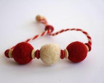 936e79476edaf Martenitsa with colored felted balls