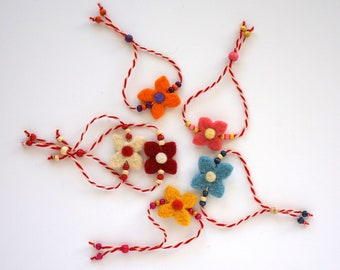 d6753fbac87ba Мartenitsa with colored felted flower