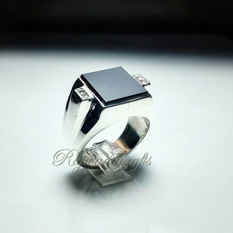 Signet Ring onyx signet Black onyx wedding ring 925 silver ring men Black onyx Ring Men Signet Ring For Men Onyx Engagement Ring Ring