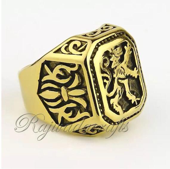 lion of judah ring gold men solid 925 sterling silver ring signet lion mens ring handmade designer ring two tone ring wedding jewelry heavy mens ring beast king lion ring sterling silver ring for men