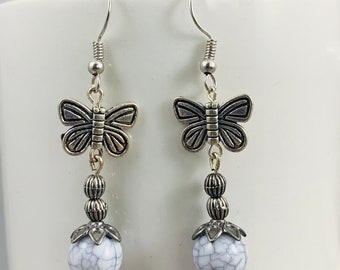 These butterfly dangle earrings are made of nickel-free materials, and are super cute!