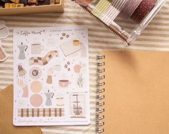 Coffee Mood Sticker sheet | Bullet Journaling Stickers