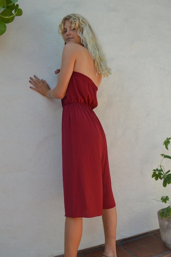 Crimson Midi Jumpsuit || Aesthetic Clothing, Aesth