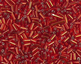 Flame Red Silver Lined 2mm 11-0010 20 Grams Japanese Miyuki 11//0 Seed Beads