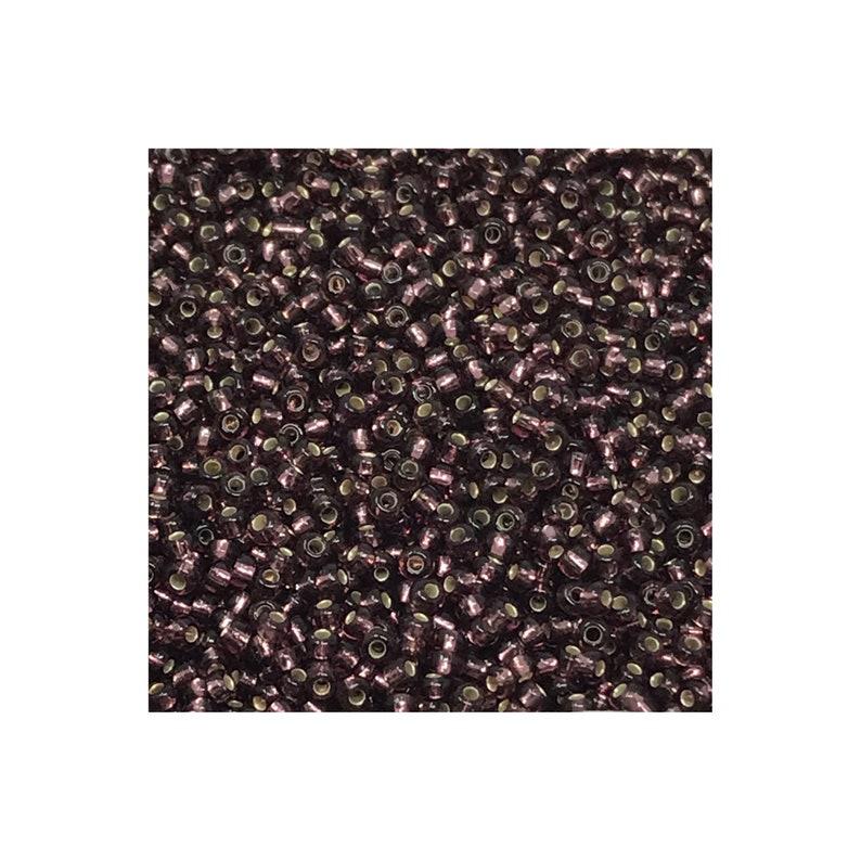Czech Seed Bead CSB11-27060 Czech Seed Beads 110 Amethyst Transparent Silver Lined 30 grams  diy beads