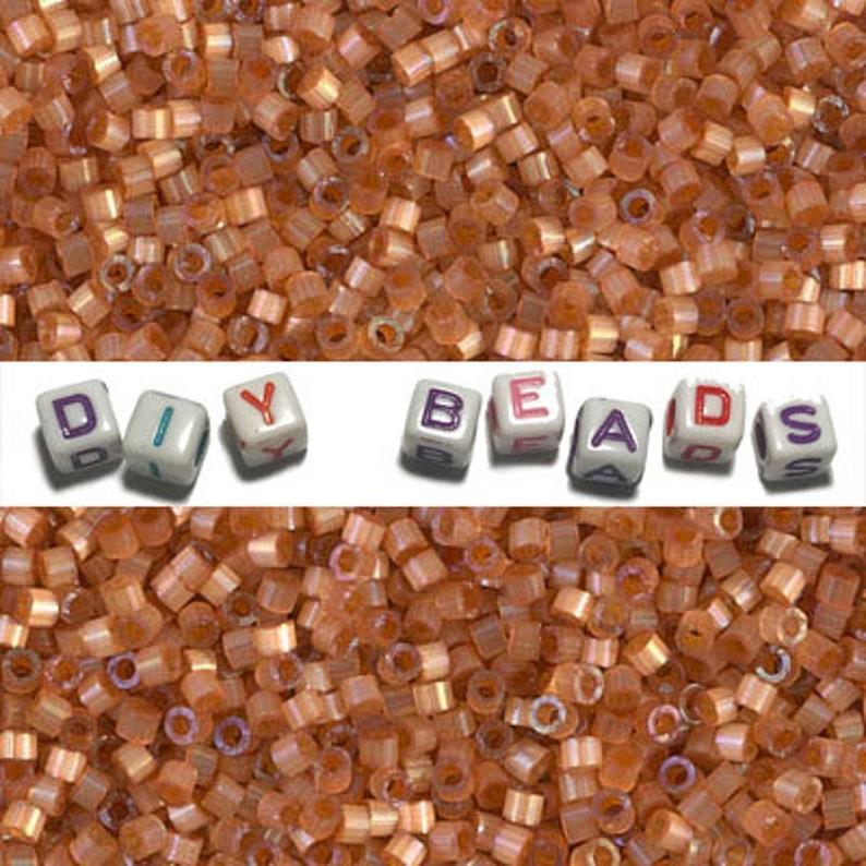 Delica Bead DB1804 Miyuki Delica Beads 110 Dyed Topaz Silk Satin 7.6 grams diy beads