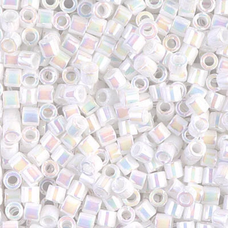 Delica Bead DBL-0202 Miyuki Delica Beads 80 White Pearl AB 8.2 grams  diy beads