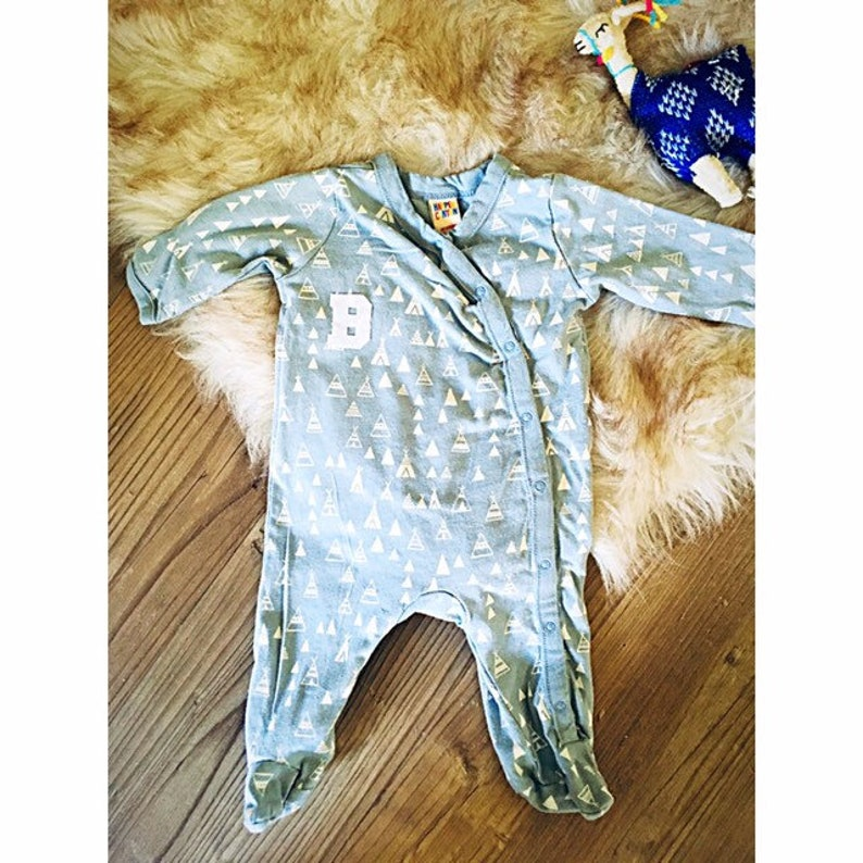 Baby /'B/' Teepee Sleeper  newborn coming home outfit  baby boy hospital outfit  newborn footed sleeper  footed pajamas  footed onesie