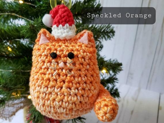 "Black Orange,Calico /""Christmas Cat/"" Kit makes 1  Ornament  Choose colors White"